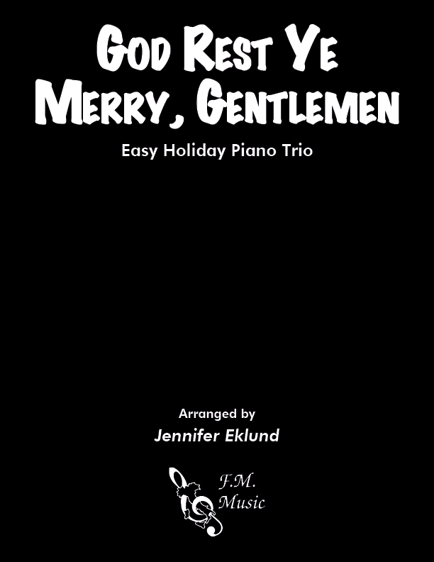 God Rest Ye Merry Gentlemen (Easy Piano Trio)