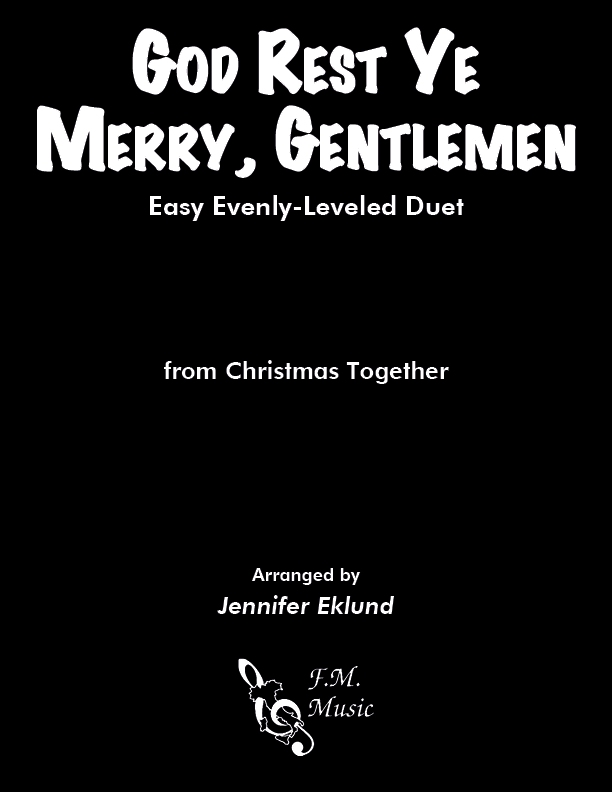 God Rest Ye Merry, Gentlemen (Easy Piano Duet)