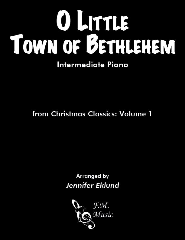 O Little Town of Bethlehem (Intermediate Piano)
