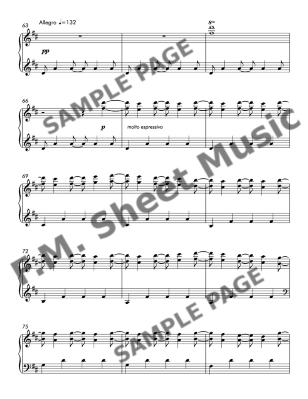 Canon In D Late Intermediate Piano By Fm Sheet Music