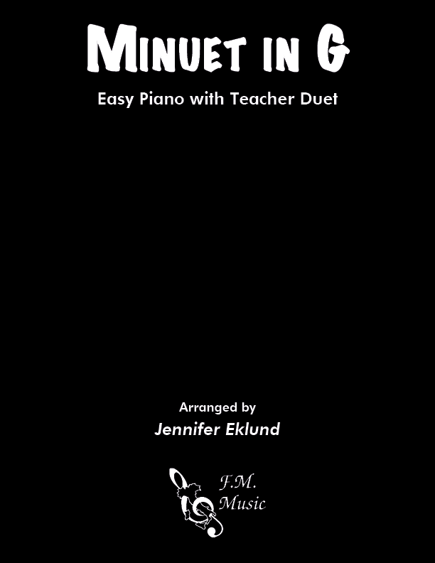 Minuet in G (Easy Piano with Duet)