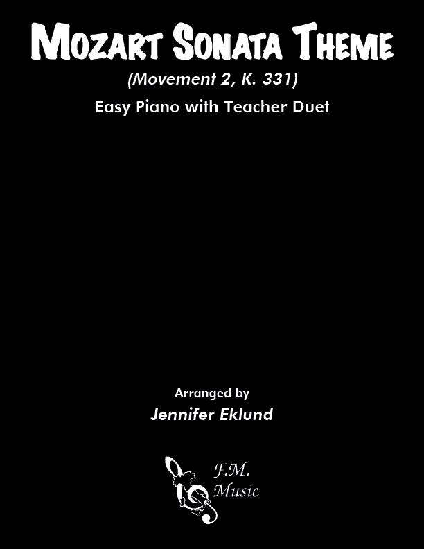 Mozart Sonata Theme (Easy Piano with Duet)