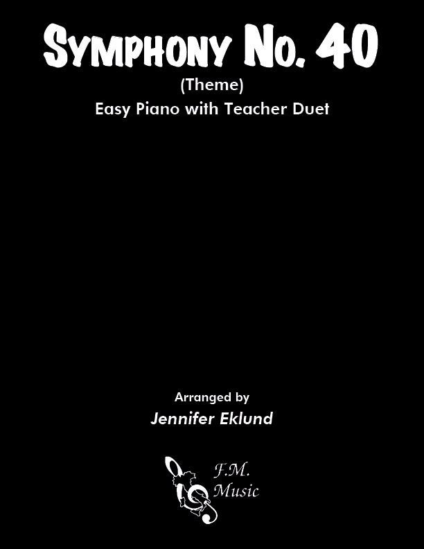 Symphony No. 40 (Easy Piano with Duet)