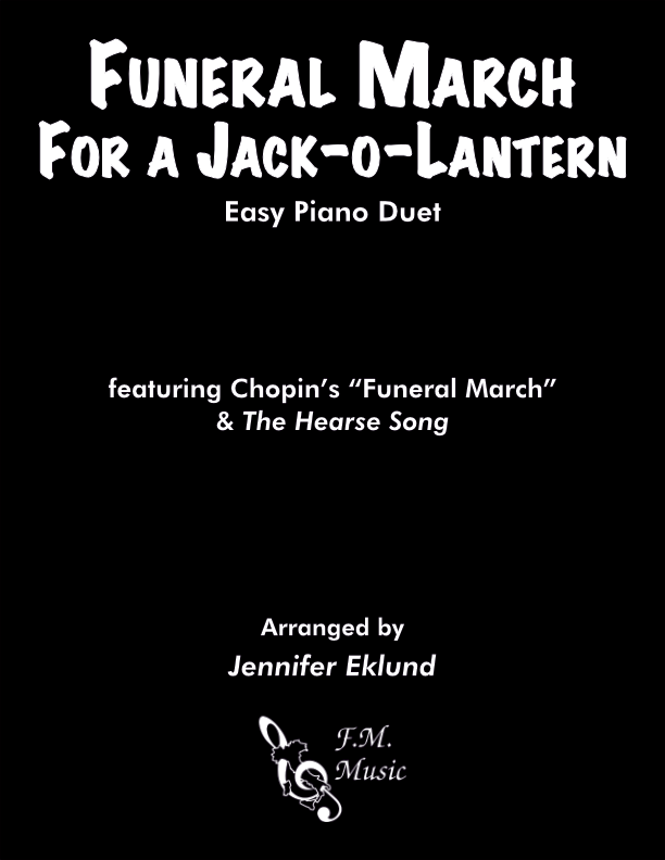 Funeral March for a Jack-o'-lantern (Easy Piano Duet)