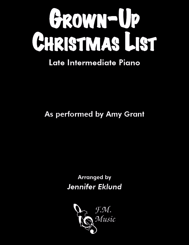 Grown-Up Christmas List (Late Intermediate Piano)