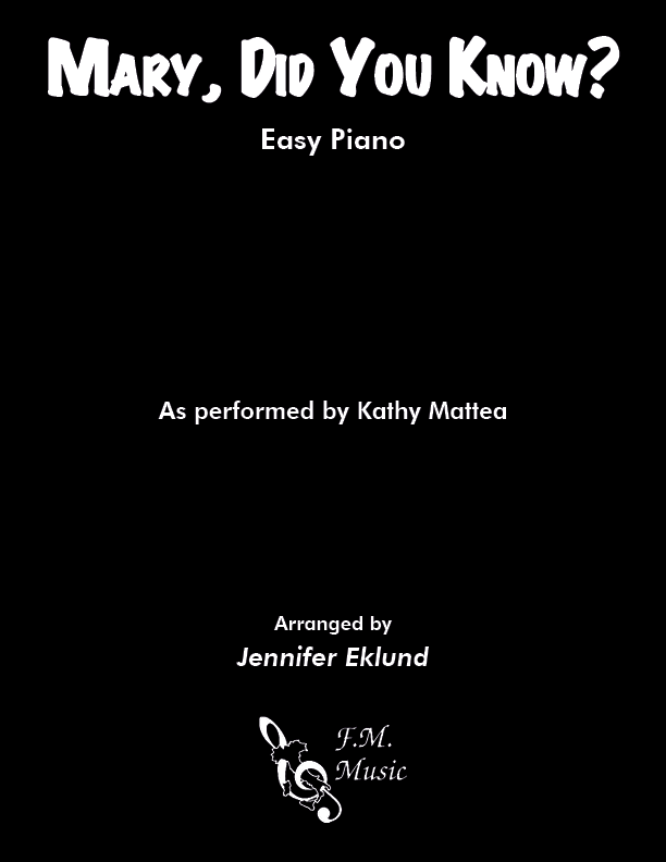 Mary, Did You Know? (Easy Piano)