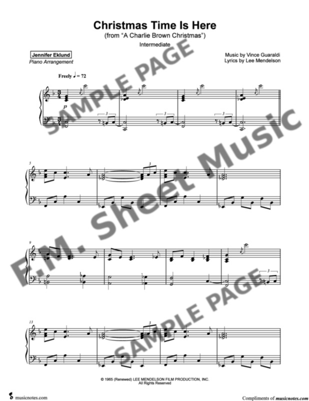 Christmas Time Is Here Piano.Christmas Time Is Here Intermediate Lyrical Piano By Vince