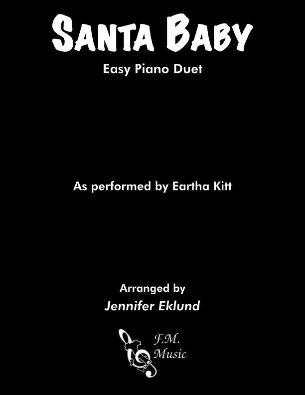 Santa Baby (Easy Piano Duet)