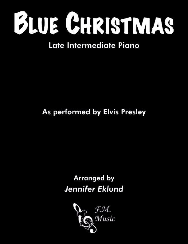 Blue Christmas (Late Intermediate Piano)