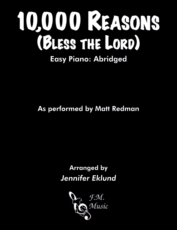10,000 Reasons (Bless The Lord) (Easy Piano)