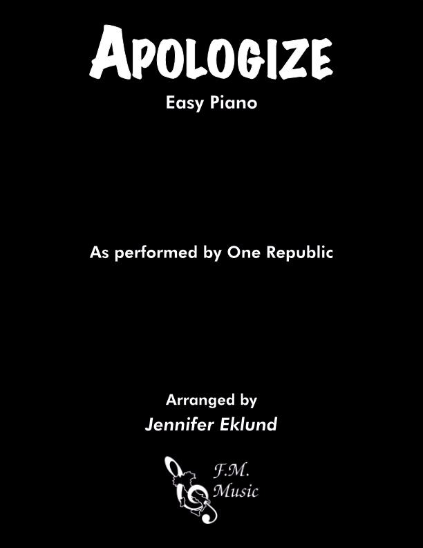 Apologize (Easy Piano)