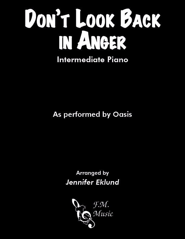 Don't Look Back In Anger (Intermediate Piano)