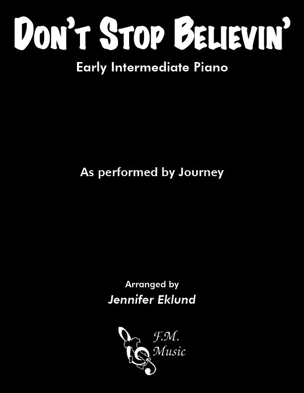 Don't Stop Believin' (Early Intermediate Piano)