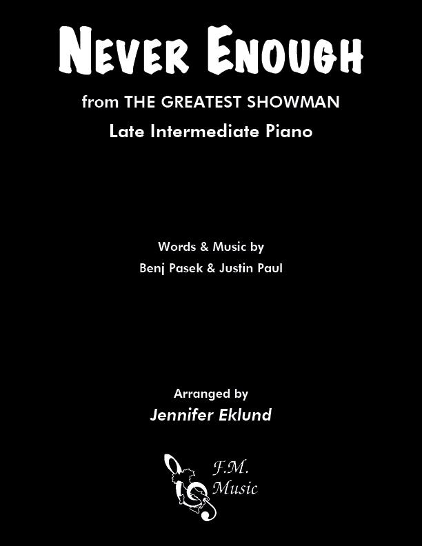 Never Enough (Late Intermediate Piano)
