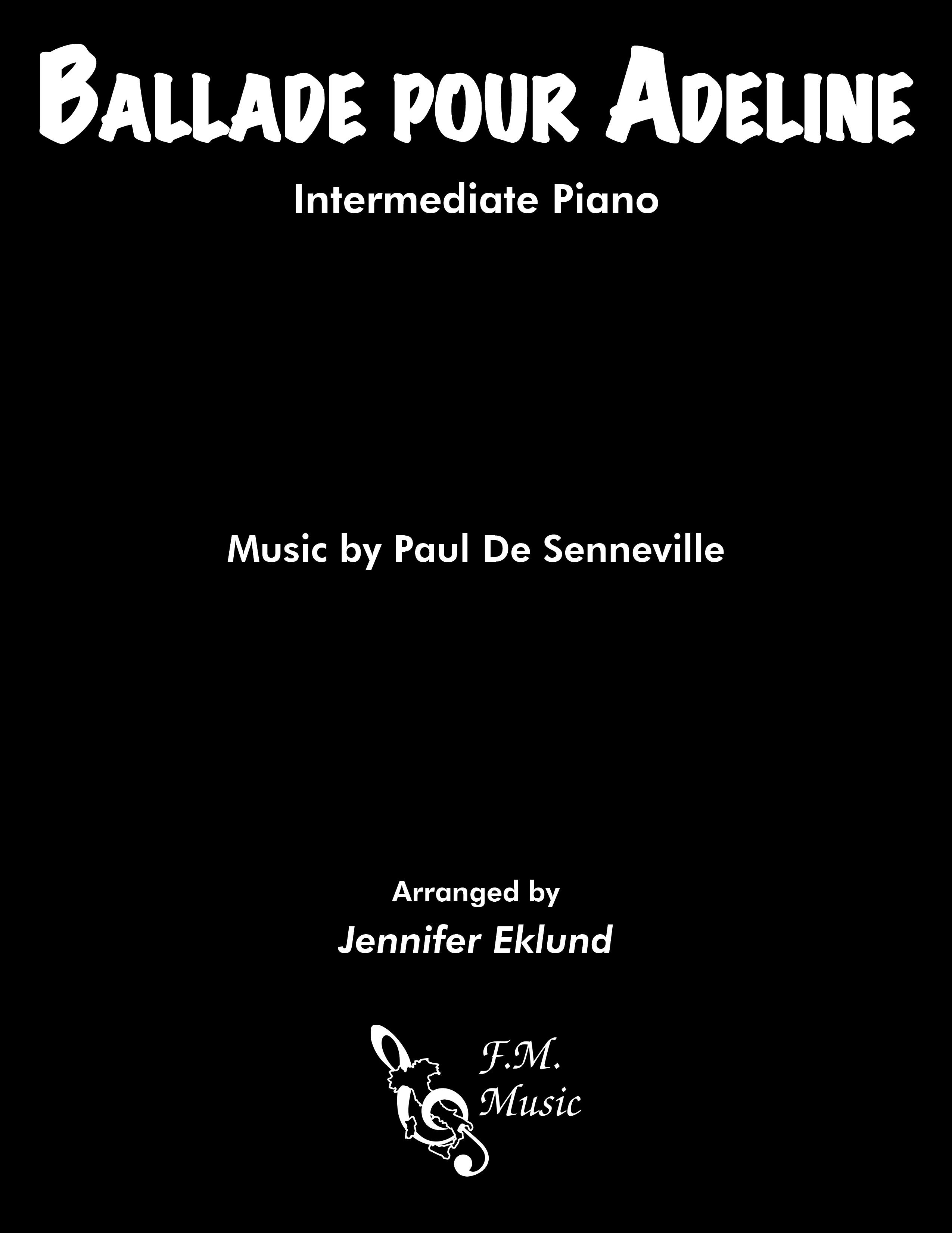 Ballade pour Adeline (Intermediate Piano)