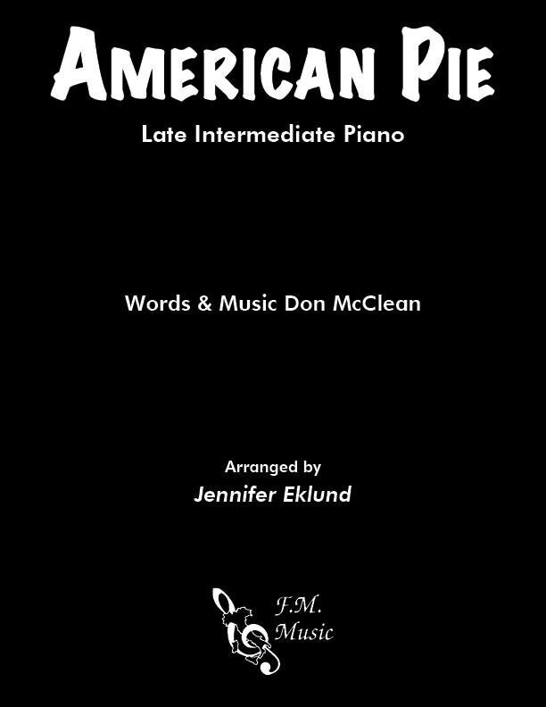 American Pie (Late Intermediate Piano)