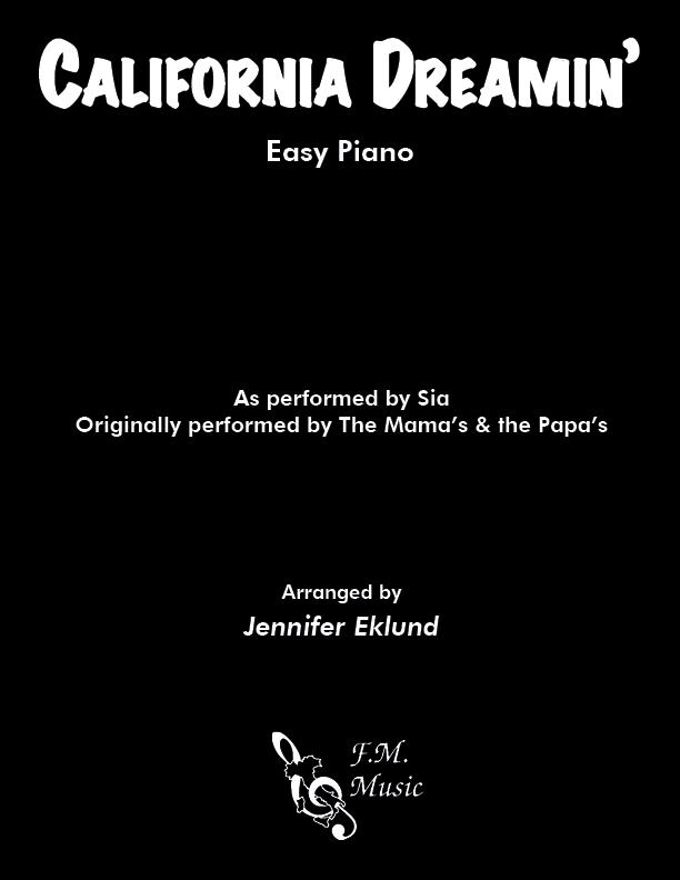 California Dreamin' (Easy Piano)
