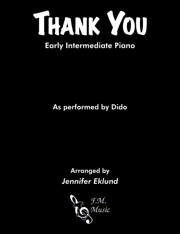 Thank You (Early Intermediate Piano)