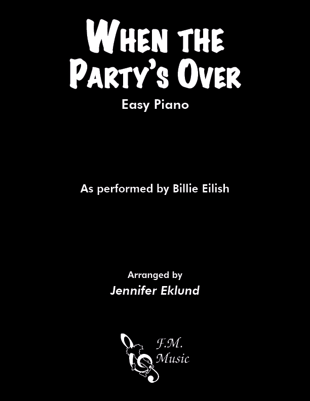 When the Party's Over (Easy Piano)