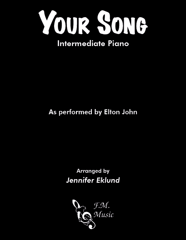 Your Song (Intermediate Piano) By Elton John - F M  Sheet
