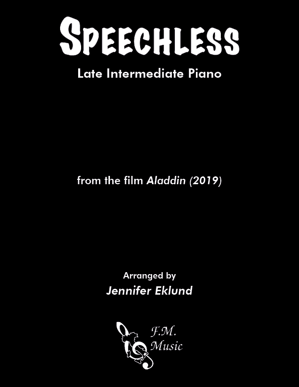 Speechless (from Aladdin 2019) (Late Intermediate Piano)