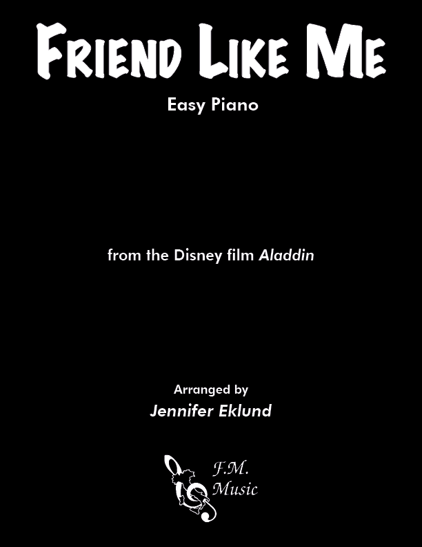 Friend Like Me (from Aladdin) (Easy Piano)