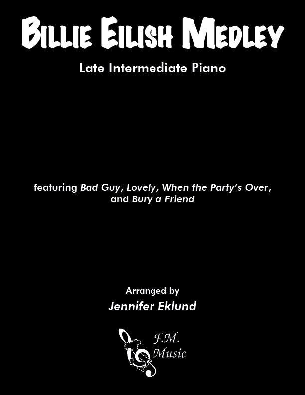 Billie Eilish Medley (Late Intermediate Piano)