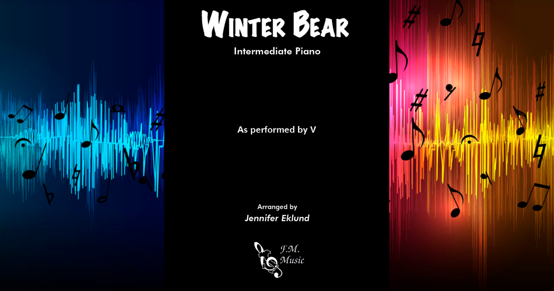 winter bear intermediate piano by v f m sheet music. Black Bedroom Furniture Sets. Home Design Ideas