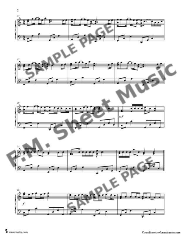 Memories Intermediate Piano By Maroon 5 F M Sheet Music Pop Arrangements By Jennifer Eklund