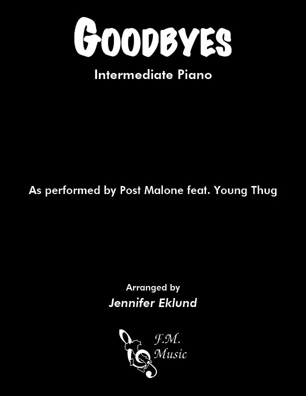 Goodbyes (Intermediate Piano)