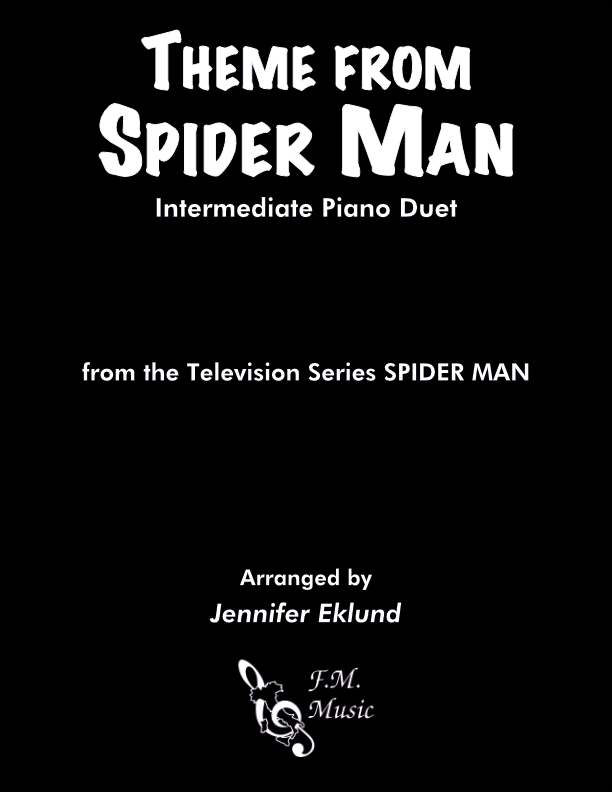 Spider Man Theme (Intermediate Piano Duet)