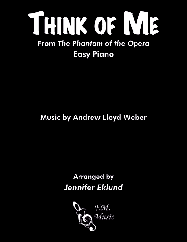 Think of Me (Easy Piano)