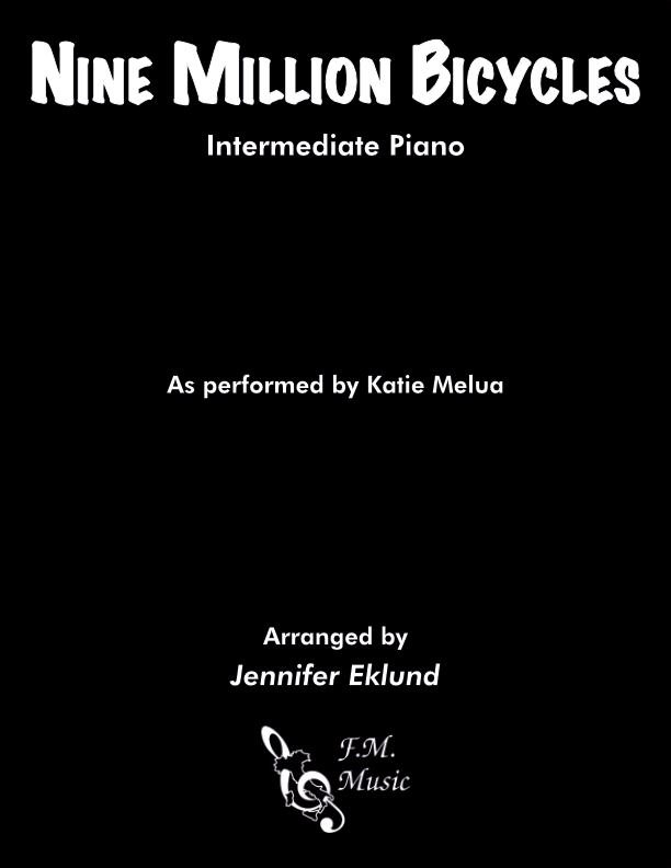 Nine Million Bicycles (Intermediate Piano)