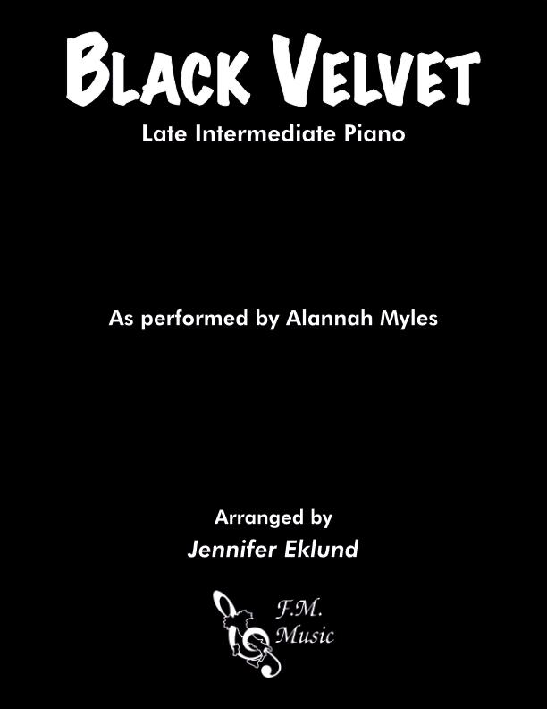 Black Velvet (Late Intermediate Piano)