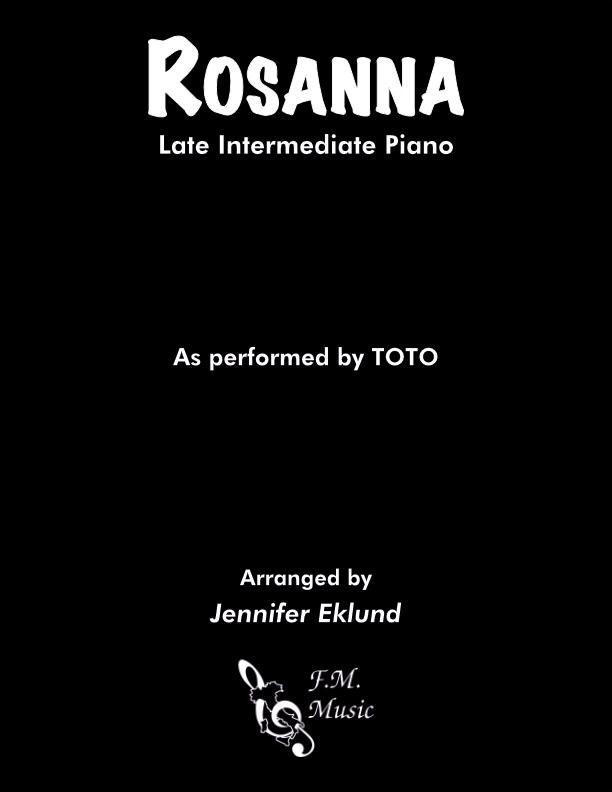 Rosanna (Late Intermediate Piano)