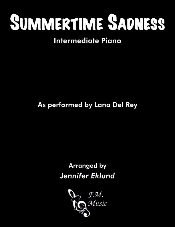 Summertime Sadness (Intermediate Piano)
