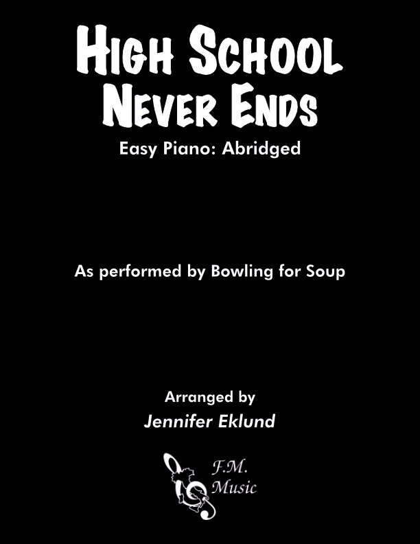 High School Never Ends (Easy Piano)